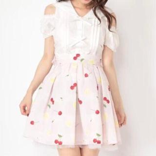 アンクルージュ(Ank Rouge)の★美品★ Ank Rouge Lacy Lemon ウエストリボンスカート ★(ミニスカート)