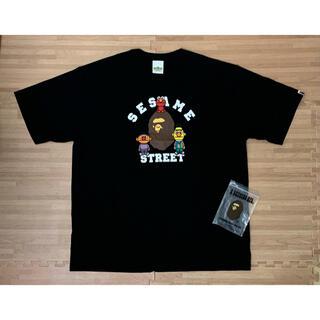 A BATHING APE - ★激レア★ APE × セサミストリート カレッジ ロゴ Tシャツ 3XL