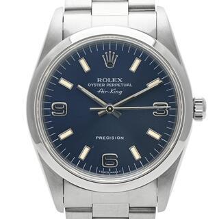 ロレックス(ROLEX)のロレックス エアキング 14000M 自動巻き メンズ 【中古】(腕時計(アナログ))