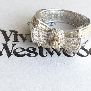 ヴィヴィアンウエストウッド(Vivienne Westwood)のパメラ リボン ボウリング XS シルバー(リング)