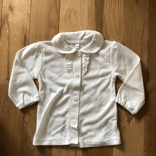 ニシマツヤ(西松屋)の未使用 西松屋 長袖 ブラウス トップス 襟付き 白 60センチ 70センチ(シャツ/カットソー)