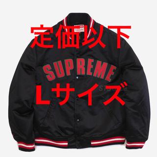 Supreme - satin varsity jacket Lサイズ