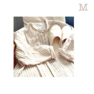 ムジルシリョウヒン(MUJI (無印良品))の■新品■ 無印良品 オーガニックリネンクルタ/ベージュストライプ/M(ルームウェア)