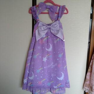 Angelic Pretty - Dream Skyジャンパースカート クリップ ラベンダーset