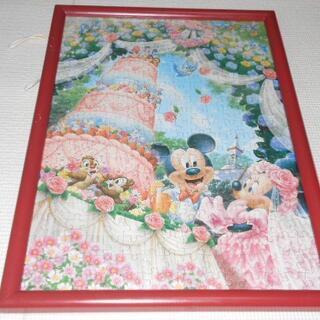 ディズニー(Disney)のディズニー パズル ミッキーマウス ウエディング 額縁付 サイズ 33×46cm(その他)