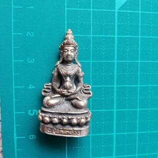 神様ミニメタル仏像 阿弥陀如来 シルバーカラー(彫刻/オブジェ)