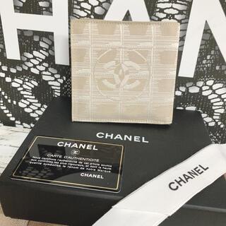 シャネル(CHANEL)の美品 CHANEL シャネル トラベルライン 二つ折り 財布(折り財布)