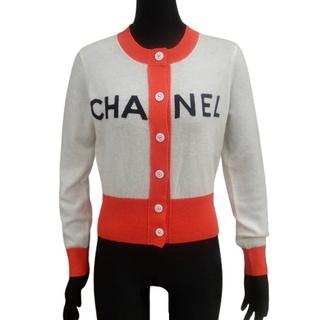 CHANEL - シャネルトップス カーディガン オフホワイト レッド 40800076102