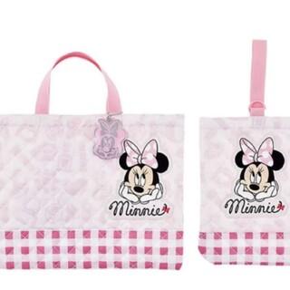 ディズニー(Disney)のミニーちゃん レッスンバック 上靴袋 2点セット(バッグ/レッスンバッグ)