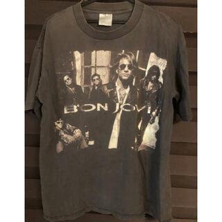 BON JOVI プリントロックバンドヴィンテージTシャツL(Tシャツ/カットソー(半袖/袖なし))