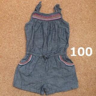 ベビーギャップ(babyGAP)の100 サロペット キャミ 送料込 デニム 送料無料 女児 オールイン ズボン(パンツ/スパッツ)