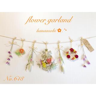 648  ♡お花いっぱい♡ドライフラワーガーランド♡    (ドライフラワー)