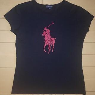 Ralph Lauren - ラルフローレン ビッグポニー 半袖Tシャツ 160㎝ 紺ネイビー×ピンク
