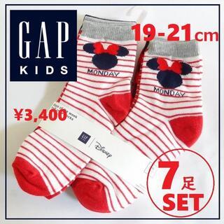 ギャップキッズ(GAP Kids)の送料込 7足セット 新品★GAP ミッキー&ミニーマウス ソックス 靴下(その他)