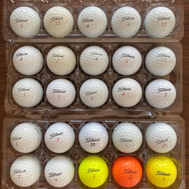 Titleist(タイトリスト)のロストボール タイトリスト 25個 チケットのスポーツ(ゴルフ)の商品写真