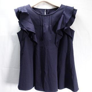 エムプルミエ(M-premier)のM-PREMIER BLACK カットソー レディース ネイビー(カットソー(半袖/袖なし))