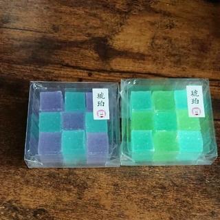 いづも寒天工房 琥珀糖 琥珀(空・翠) 琥珀(藤・空) 2個セット グミッツェル(菓子/デザート)
