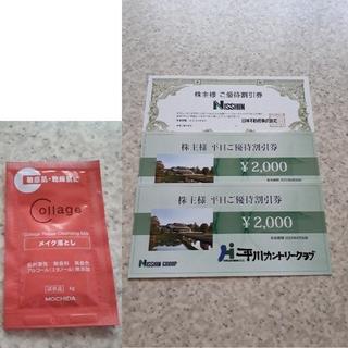 日神 平川カントリークラブ 株主優待 割引券 2000円 2枚 サンプル(その他)