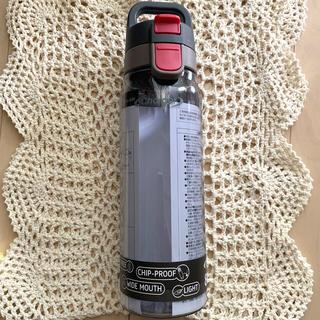 tritan ワンタッチ ボトル 830ml クリアグレー(水筒)