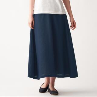 ムジルシリョウヒン(MUJI (無印良品))のMUJI(無印良品)フレンチリネンフレアースカート(ロングスカート)