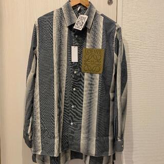 LOEWE - 新品 LOEWE ウール ストライプ ロゴ オーバーシャツ