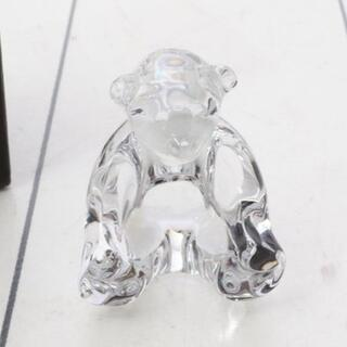 バカラ(Baccarat)の【美品】Baccarat バカラ クマ 熊  クリスタル 置物 フィギュリン(置物)
