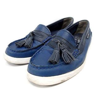 コールハーン(Cole Haan)のコールハーン ローファー スリッポン レザー タッセル 5.5B 青(ローファー/革靴)