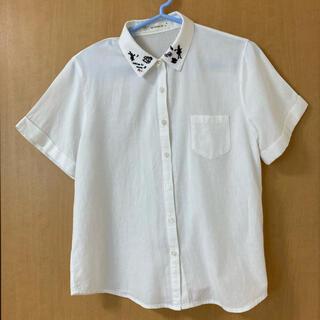 アズノウアズ(AS KNOW AS)のas know as アリスのかわいいシャツ 白(Tシャツ(半袖/袖なし))