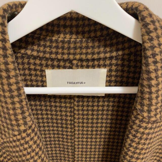 TODAYFUL(トゥデイフル)のtodayful オーバーチェックコート 38 レディースのジャケット/アウター(ロングコート)の商品写真