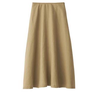 ムジルシリョウヒン(MUJI (無印良品))の無印良品 フレンチリネンフレアスカート サイズL(ロングスカート)