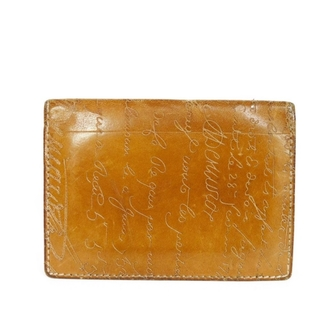 ベルルッティ(Berluti)のベルルッティ ジャグア スタンプ 旧型 カリグラフィ ブラウン カードケース(パスケース/IDカードホルダー)