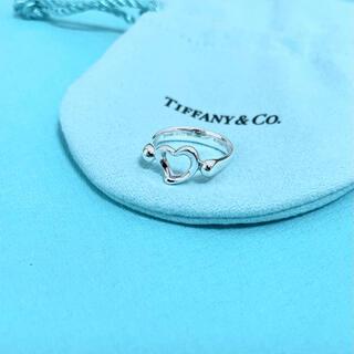 ティファニー(Tiffany & Co.)の【美品】Tiffany & Co. オープン ハート リング 指輪 7号 925(リング(指輪))