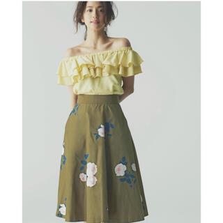 アンドクチュール(And Couture)のアンドクチュール♡フラワースカート(ひざ丈スカート)