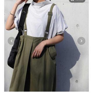 アンティカ(antiqua)のアンティカ  麻混ロングスカート未使用品(ロングワンピース/マキシワンピース)