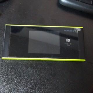 wimax 2+ speed wifi Next W05 ブラックxライム(PC周辺機器)