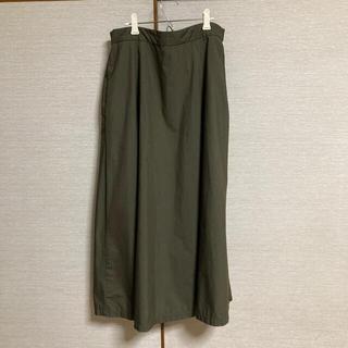 ムジルシリョウヒン(MUJI (無印良品))の無印良品 綿混ダンプイージーフレアースカート/カーキグリーンXL(ロングスカート)