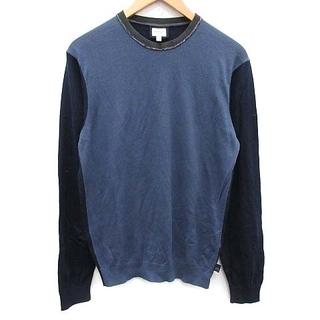 アルマーニ コレツィオーニ(ARMANI COLLEZIONI)のアルマーニ コレツィオーニ ニット セーター 長袖 EU48 XS 紺 水色(ニット/セーター)