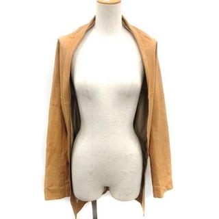 ヨウジヤマモト(Yohji Yamamoto)のヨウジヤマモト ジャケット 羽織り 変形  牛革 キャメル 2 M ベージュ(その他)