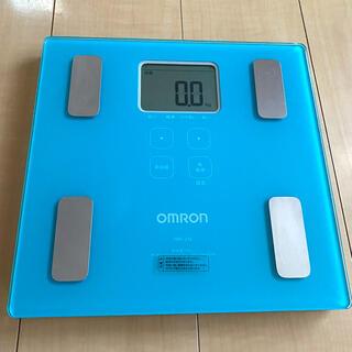 オムロン(OMRON)のオムロン 体重体組成計 HBF-214 カラダスキャン ブルー(体重計/体脂肪計)