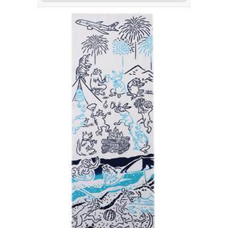 エーエヌエー(ゼンニッポンクウユ)(ANA(全日本空輸))のANA かまわぬ オリジナル手ぬぐい 鳥獣戯画(夏旅) 全日空 かまわぬコラボ(日用品/生活雑貨)