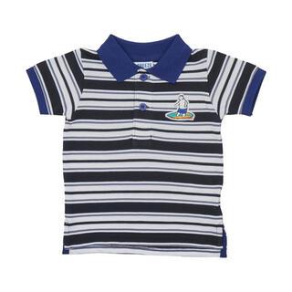 ブリーズ(BREEZE)の【新品未使用タグ付】ブリーズ ポロシャツ 白くまボーダー(Tシャツ/カットソー)