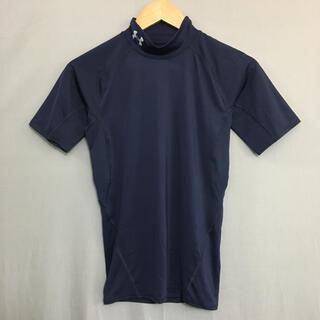アンダーアーマー(UNDER ARMOUR)の【美品】アンダーアーマー ヒートギア半袖 Tシャツ ネイビー MDサイズ(ウェア)