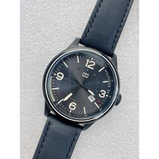 TOMMY HILFIGER - T368 新品★ トミーヒルフィガー メンズ 腕時計 本革ベルト