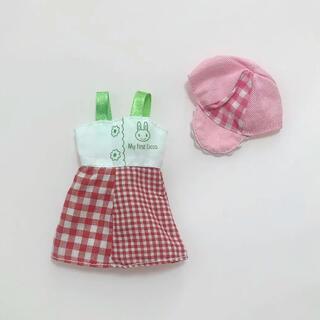 リカちゃん用 ワンピース ピンクの帽子(ゲームキャラクター)