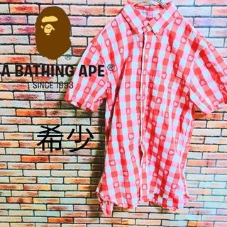 アベイシングエイプ(A BATHING APE)のアベイシングエイプ エイプ ape メンズ Sサイズ シャツ 夏 半袖 Tシャツ(Tシャツ/カットソー(半袖/袖なし))