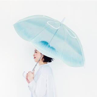 フェリシモ(FELISSIMO)のフェリシモ ミズクラゲの傘 加茂水族館コラボ 雨空を泳ぐクラゲの傘(傘)