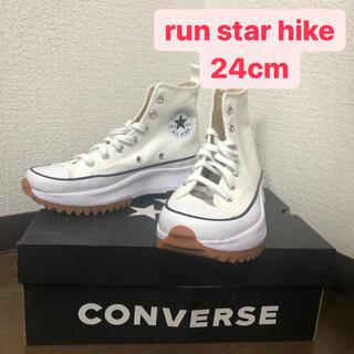 CONVERSE - Converse ホワイト Run Star Hike 24.0cm