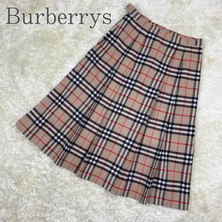 バーバリー(BURBERRY)のBurberrys スカート ヴィンテージ 膝丈 プリーツ ノバチェック 秋冬(ひざ丈スカート)
