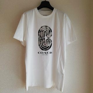 コーチ(COACH)の正規店購入 コーチ Cロゴ スポーツTシャツ白 (サイズ有り) 新品、袋付き(Tシャツ/カットソー(半袖/袖なし))