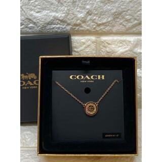 コーチ(COACH)の【新品・未使用】コーチ COACH ローズゴールド ネックレス F29828(ネックレス)